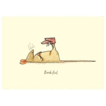 "Carte illustrée ""Bootiful"" Anita Jeram"