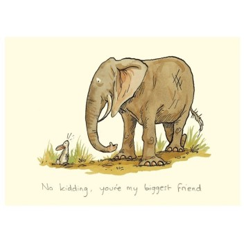 "Carte illustrée ""My Biggest Friend"""