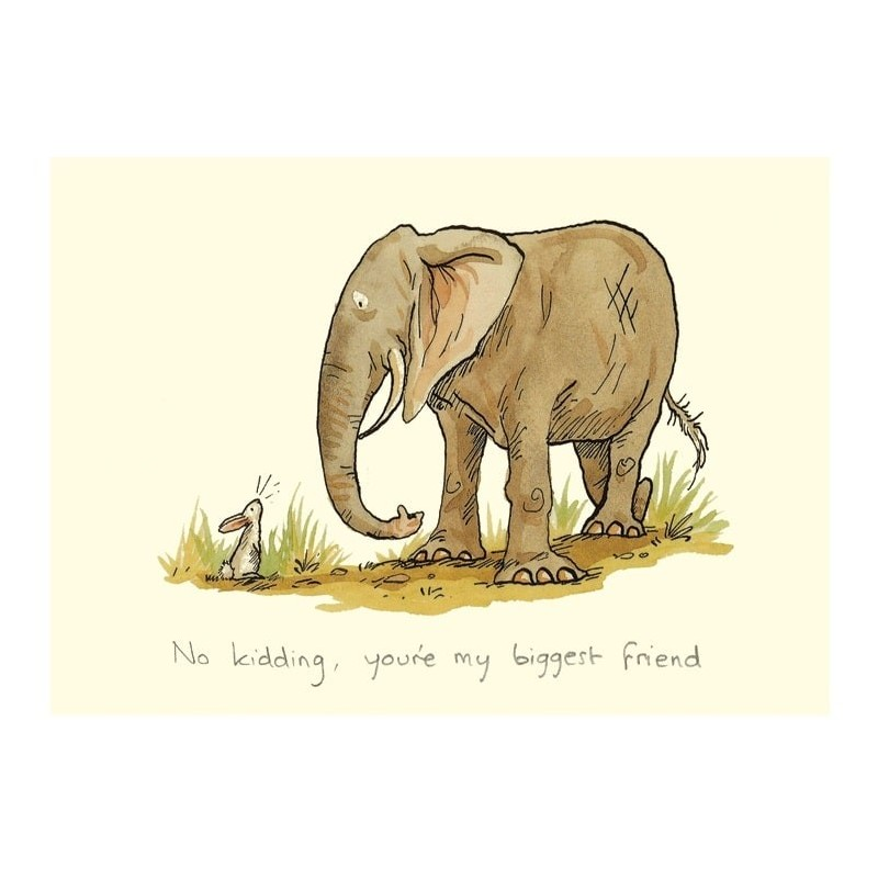 "Carte illustrée ""My Biggest Friend"" Anita Jeram"