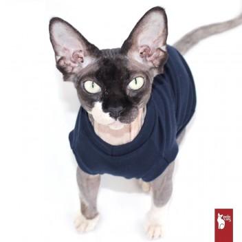 T-shirt VNeck Marine - Vêtement pour chat