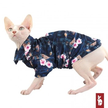 Vêtement pour chat Polocats - Chemise Hawaïenne Îles - Protection UV