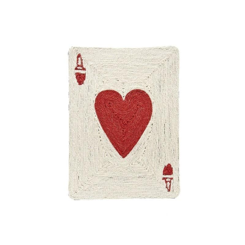 Tapis pour chat Griffoir Poker Cœur