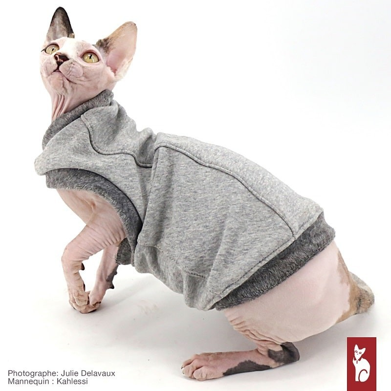 Pull Polaire pour chat Douillet Grey