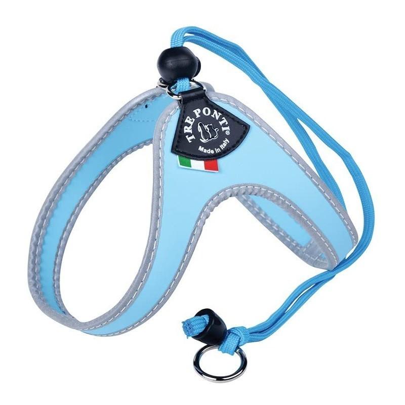 Harnais pour chat Tre Ponti Classic - Azzurro
