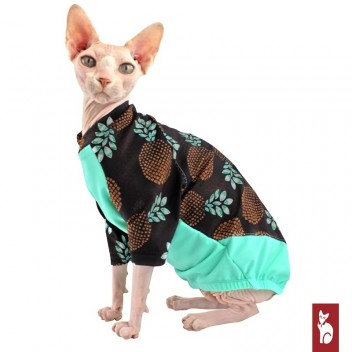 Maillot Surf Ananas - Protection UV vetement pour chat