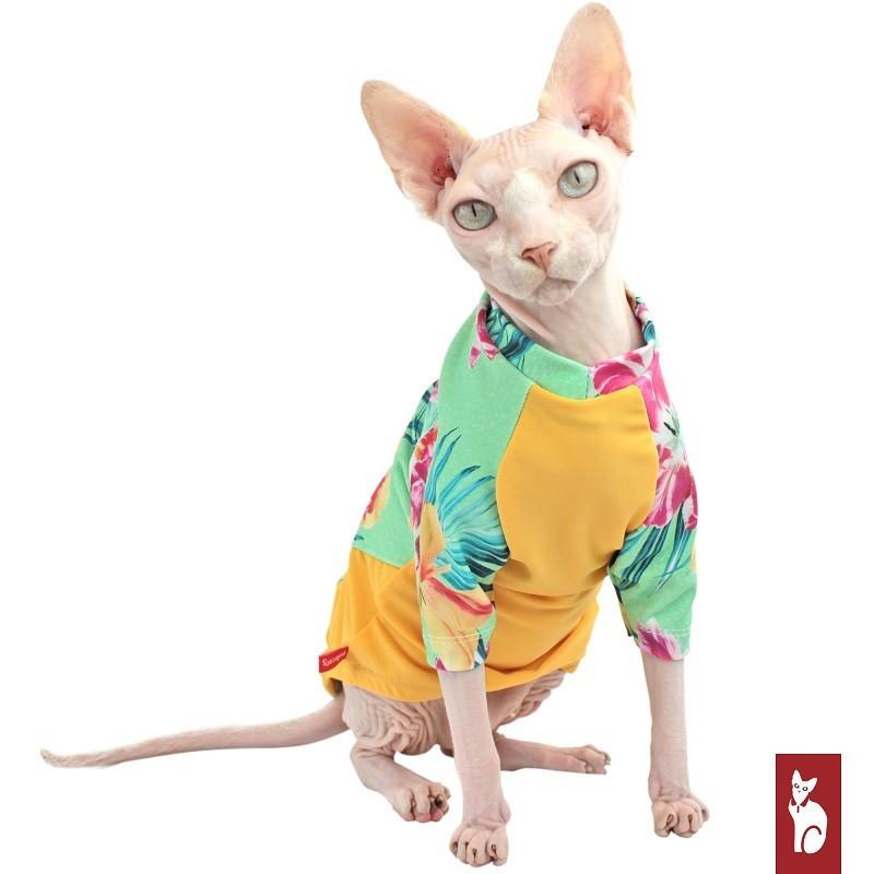 Maillot pour chat Orchidée - Protection UV