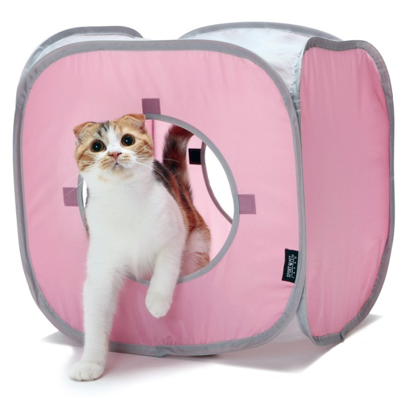 Kitty Play Cube rose jouet chat
