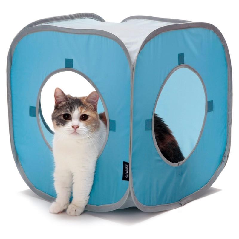 Kitty Play Cube bleu jouet chat