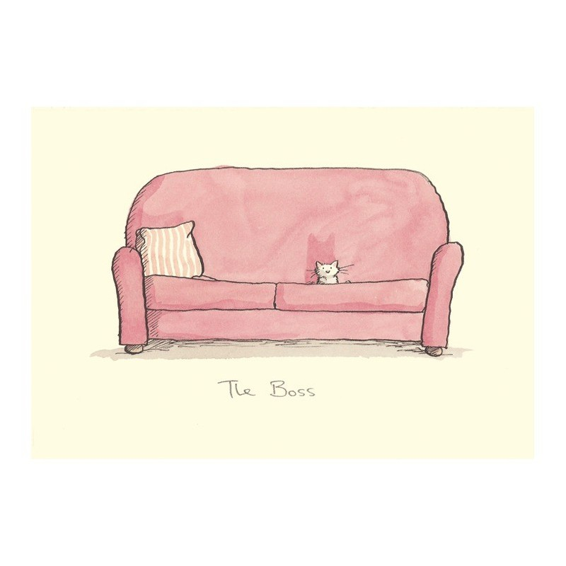 Carte illustrée Anita Jeram - Chaton The Boss
