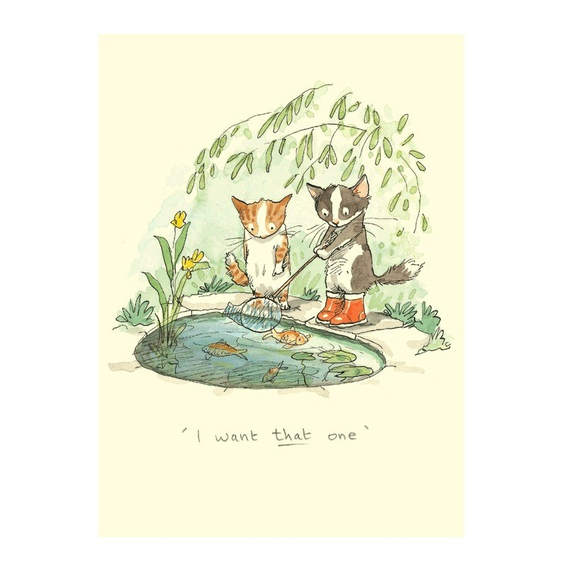 Carte illustrée Anita Jeram - Chatons I want that one