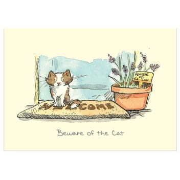 Carte illustrée Beware of the Cat