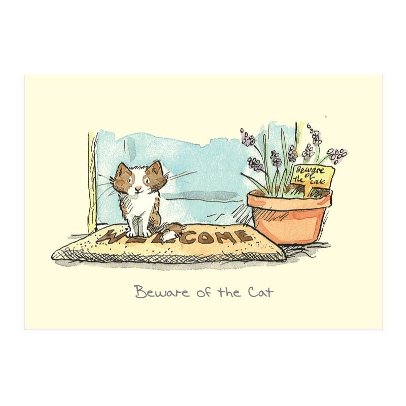 Carte illustrée Beware of the Cat