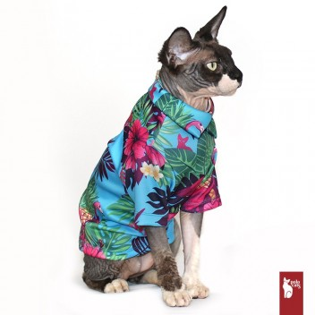 Chemise Hawaïenne - Vêtements pour chats - Sphynx clothing