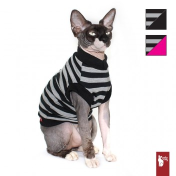 T-shirt pour chat Rayures - Vêtement pour Sphynx - Cat and Sphynx clothing