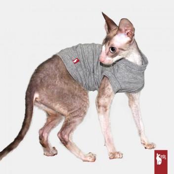 T-shirt VNeck gris - Vêtement pour chat