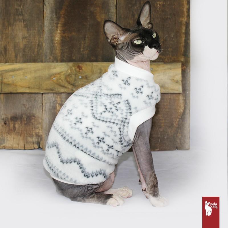 Pull Polaire Motifs - Vêtement pour chat