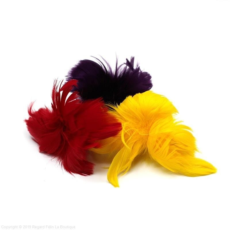 Plumes Fleur - Jouet pour chat avec plumes