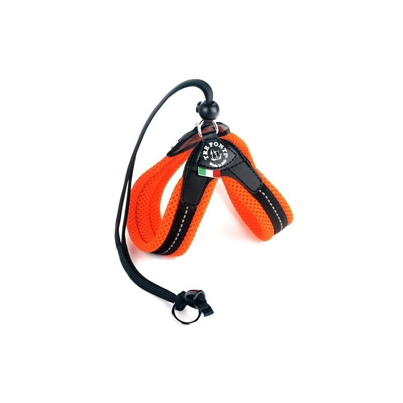 Harnais pour chat Tre Ponti Soft - Orange