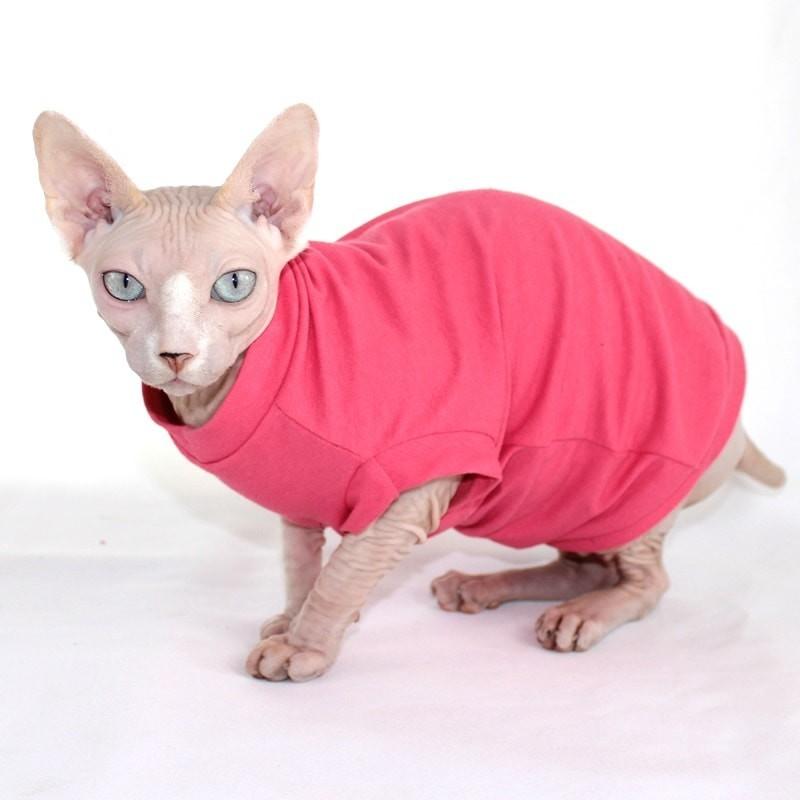 T-shirt VNeck Corail - Vêtement pour chat