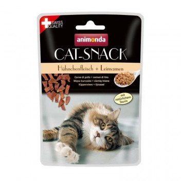 Animonda Cat-Snack - Poulet et Graines de Lin
