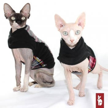 Pull Polaire pour chat Écossais - Vêtement pour chat
